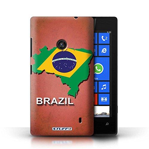 Kobalt® Imprimé Etui / Coque pour Nokia Lumia 520 / Irlande/irlandaise conception / Série Drapeau Pays Brésil