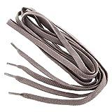 REMA 1 Paar Schnürsenkel - flach - ca. 7,0 mm breit in verschiedenen Farben und Längen (120 cm, Dunkelgrau)