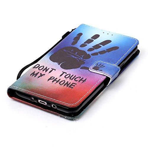 Custodia Samsung Galaxy J7 (2016), Sunroyal® Custodia in Pelle, in Piedi la Vista Diario Custodia Copertura di Vibrazione Portafoglio Flip Cover con Chiusura Magnetica per Samsung Galaxy J7 (2016) SM- Modello 22