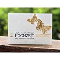 Hochzeitskarte, mit Kuvert, handgefertigt / handmade, Glückwunschkarte zur Hochzeit, wedding, greetings, congratulations, Schmetterling, butterfly