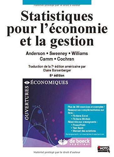 Statistiques pour l'économie et la gestion