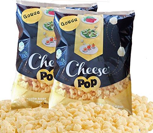 Produktbild Cheesepop Gouda Käsebällchen XXL Beutel (2 x 500 g) frisch gepuffter Käse - der perfekte low-carb & keto Eiweiß Snack! 100 % Käse