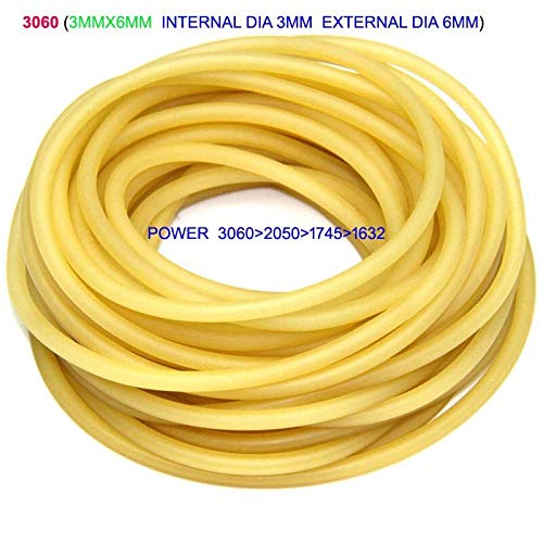 Generic 1m/lot Natural Latex Slingshots Rubber Tube Tubing Band for Hunting Catapult Elastic Part Fitness Bungee Equipment Color YELLOW3060