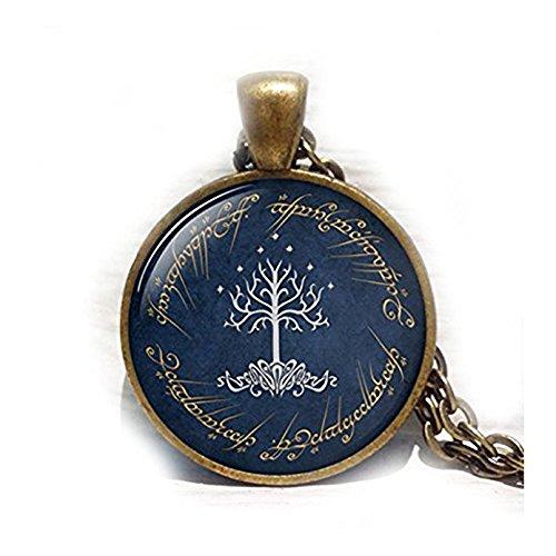 Halskette, Weiß Baum Halskette, Baum des Lebens Halskette, Baum des Lebens Halskette, Tree of Life Charm Anhänger, ()