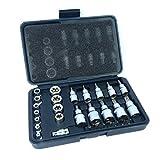 Stern Steckschlüssel- und Bitsatz, 30 pc-Männlichen und Weiblichen Torx Buchsen E&T-Bits