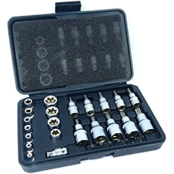NEW Torx Socket Set 29PC Tamper Proof Security Bits Plus External Star UK Seller