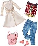 Barbie Fashion 2er-Pack Casual – weißes Kleid und Jeans