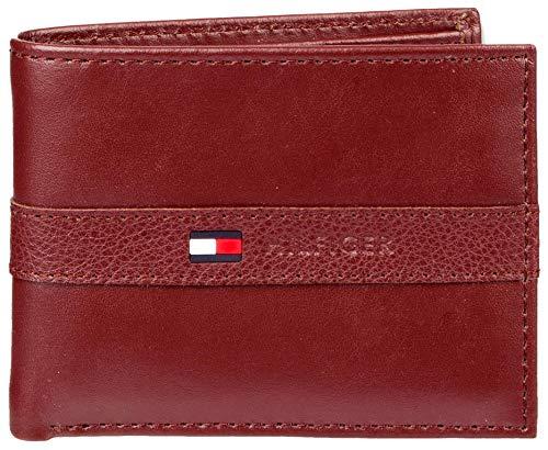 Tommy Hilfiger Ranger Men's Passcase Wallet Burgundy Leather