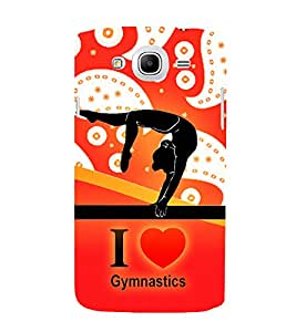Print Masti Designer Back Case Cover for Samsung Galaxy Mega 5.8 I9150 :: Samsung Galaxy Mega Duos 5.8 I9152 (Yoga River Sun Wave Hand )