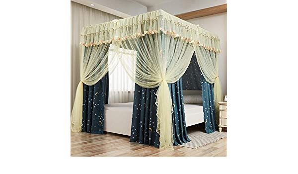 2m Wsreyj Bed Frame DraperiesBed curtain home bedroom floor shading bed curtain mosquito net-B/_1.5m