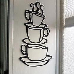 eenkula La Tasse à Café Bricolage De Mur Autocollants Vinyle Mur Autocollant Stickers Pour Cuisine Chambre Décor Amovible