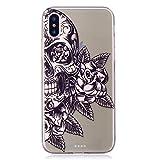 Flymaff iPhone X Fall + [Free Displayschutzfolie], Ultra Slim Weiche Silikon Premium Gel TPU Fashion Dünn Cover iPhone X [14,7cm]