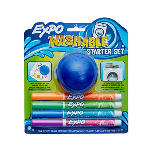 Expo Waschbar Dry Erase Marker, Rundspitze, 6er Pack, verschiedene Farben Feine Spitze 5-Piece Set Assorted Colors Fine Point