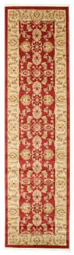 FeelGoodRugs 80x 300cm Ziegler Kaspin Orientalischer Läufer Teppich Teppich, rot -