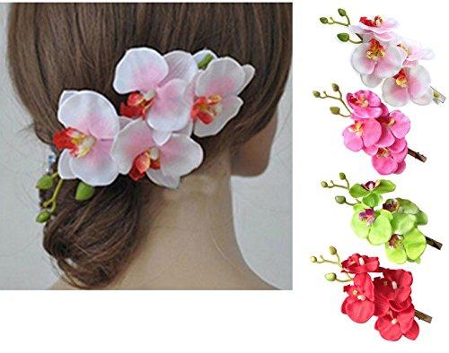 haresle-4pcs-Mujeres-Nias-hawaiano-flores-para-el-pelo-hecha-a-mano-Orqudea-Flor-Hairpin