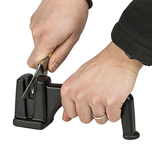 Walther Ceramic Messerschärfer mit Handgriff in Schwarz (Kunststoff-messer Stand)