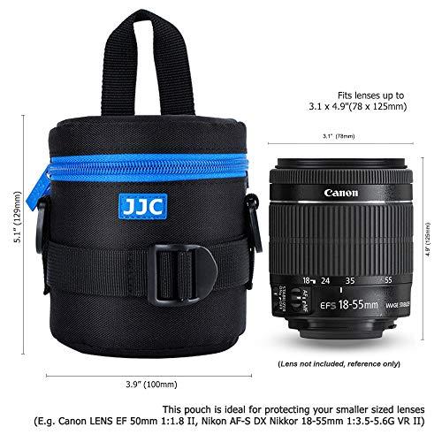 PROfoto.Trend/JJC DLP-1II Deluxe Objektiv Tasche mit Umhängeband, Wasserabweisend, Schwarz, passt Objektiv Durchmesser und Höhe unter 78 x 125mm [Siehe Beschreibung für die Kompatibilität]
