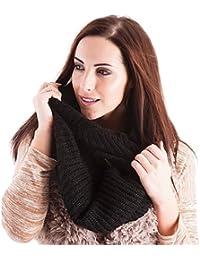 Ladies Black Knitted Winter Snood