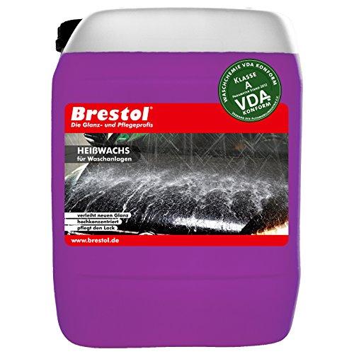 Brestol Heißwachs 10 Liter Konzentrat - für Autowaschanlagen - Schaumwachs - Sprühwax mit Abperleffekt Abperl-Effekt -