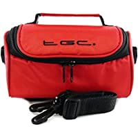 TGC ® Camera Case for Nikon Coolpix B500 with shoulder strap and Carry Handle (Crimson Red)