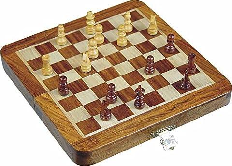 Zap Impex ® Holz magnetischen Reis Schach, Falten Schachbrett 10