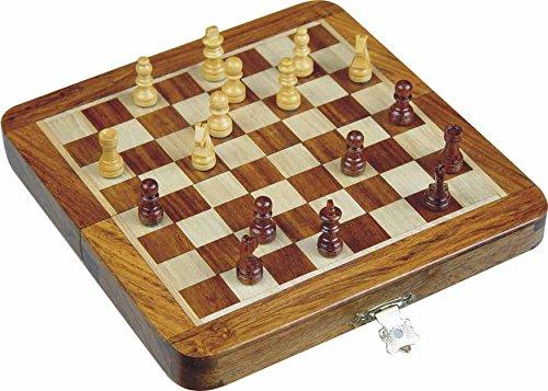 """Zap-Impex–Holz-magnetischen-Reis-Schach-Falten-Schachbrett-10-Zoll Zap Impex  ® Holz magnetischen Reis Schach, Falten Schachbrett 10 """"Zoll -"""