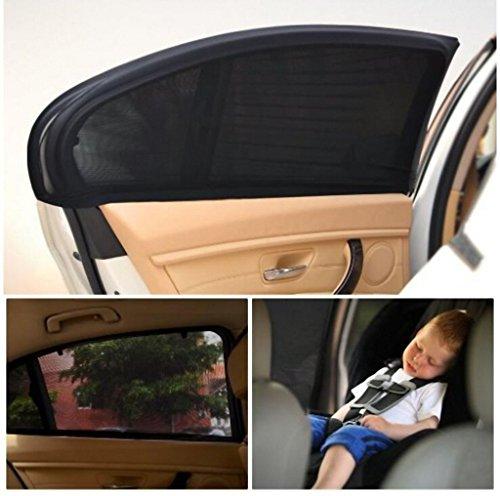 Bournetech-lato-tendine-parasole-per-auto-2-pezzi-protezione-UV-protegge-il-bambino-e-bambini-taglia-M-per-SUV-e-Sedan