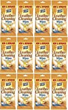12 x Packs Of Fabric Magic Leather Cleaning Wipes - 24 Wipes