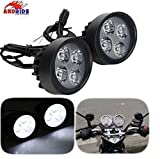 #5: Andride Fog Light Mirror Mount 4 Led 16w White Light Auxillary Light Bike Motorcycle with and 1 Pair- For PR Fog Light Mirror Mount 4 Led 16w White Light Auxillary Light Bike Motorcycle with and 1 Pair- For Scooty All Type