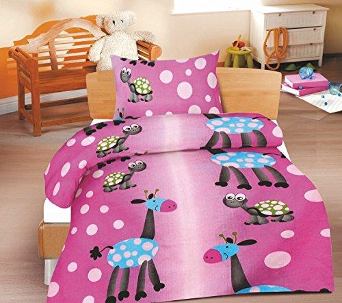 2-Teilige wunderschöne lustige Renforcé- Kinderbettwäsche Lilo 1x 100x135 Bettbezug + 1x 40x60 Kissenbezug , 100% Baumwolle