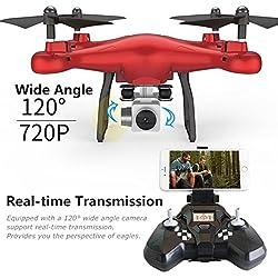 RC Quadcopter Drone 720P cámara Altura Hold smrc S10W de G 120° ángulo Quadcopter Drone 720P cámara helicóptero, rojo, talla única