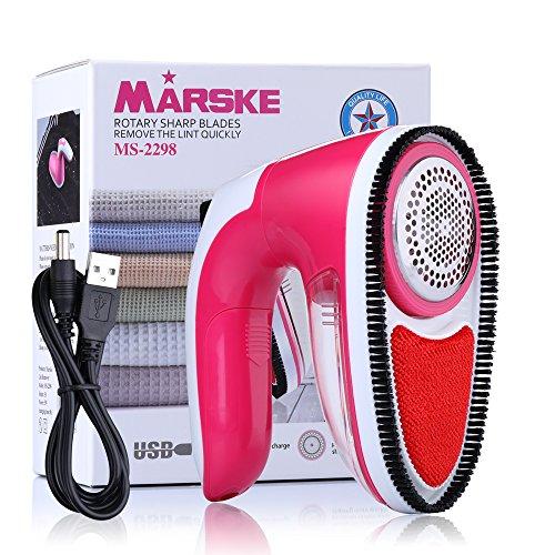 MARSKE Elektrischer Fusselentferner, Elektrisch USB Wolle Kleidung Fusselremover/Flusenrasierer / Stoffrasierer/Textilrasierer / Flaum Entferner