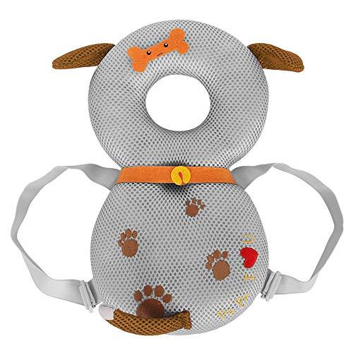 GXFLO Baby Kopfschutz Baby Kleinkinder Kopf Sicherheit Pad Kissen Baby Rückenschutz verhindern Toddler verletzt geeignet Alter 4-24 Monate,Greyhound -