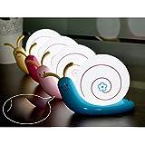 HUAYANG USB aufladbare Niedliche Schnecke Form Nachtlicht Wand hängen LED Lampe für Kinder (rosa)