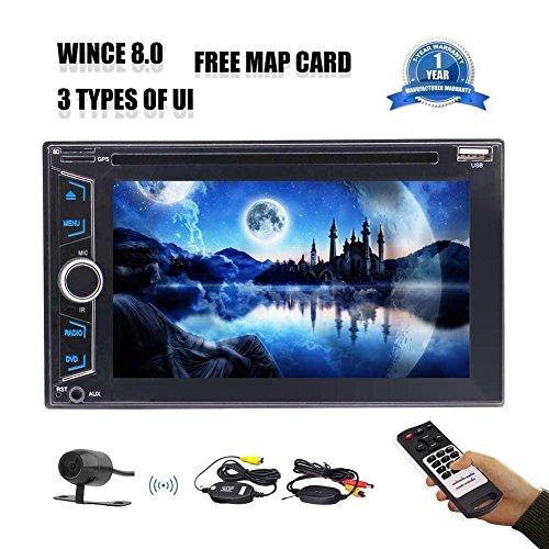 EINCAR Car Stereo 6.2 Zoll Doppel-DIN-5 Punkte Touch Screen Autoradio-DVD/CD-Spieler AM/FM Radio Car Audio Bluetooth GPS Navigator Wireless Rear View Camera Fernsteuerungsunterstützung SD/U