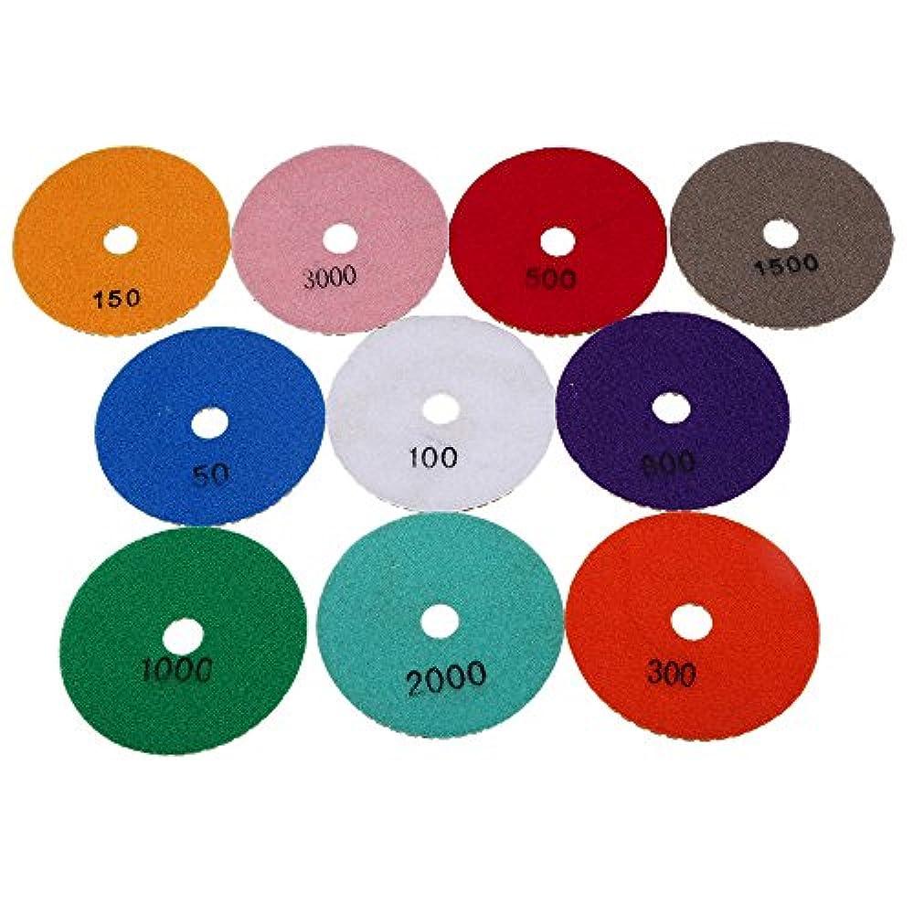 100mm Polierscheiben für Granit,Marmor,Stein,Fliesen polieren K100 trocken