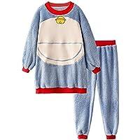 DUKUNKUN Pijamas Mujer Otoño Invierno Lindo Dibujo Animado Grueso Cálido Gato De Dibujos Animados Traje Casual,L