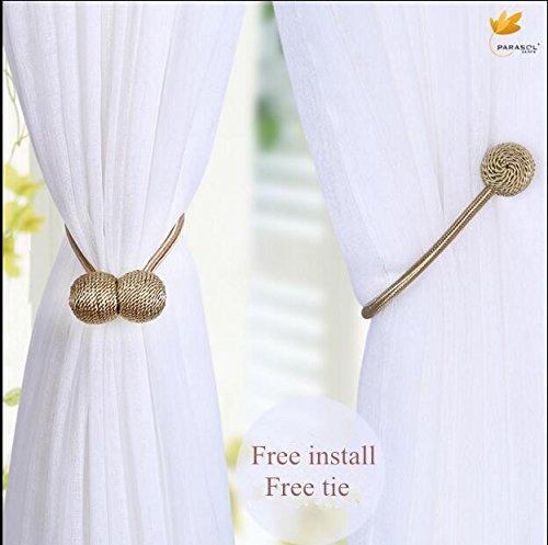 Magnetic Curtain Tiebacks Clips Curtain Buckles Holdbacks Binding Tie Band 2 pieces