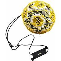 PodiuMax Solo fútbol Kick Trainer con Bola Bloqueado Red diseño, Traje de cinturón de muñeca Ajustable para Todos los Niveles, Especialmente para Juggle fútbol