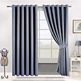 Chenille Solid Pattern, Grey - Bed Curtains