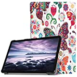 Igemy Ultra Slim Cover Schutzhülle Bumper Lederhülle mit Standfunktion/Auto Sleep Wake up Funktion für Samsung Galaxy Tab A2 10.5 inch T595 (10.5'', C)