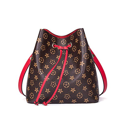 2cb7d75ab1 SHMONA Bolso Crossbody de Las Mujeres Bolsa de Cubo de la Moda Bolso de  Embrague de