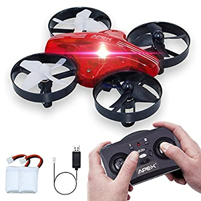 Kids Toys Mini Drone, ONIPU Remote Control Quadcopter RC Flying Toys 2.4GHZ 4CH 6Axis Altitude Hold 3D Flips Headless Mode with LED Lights Funny Gifts Cool Gadgets for Boys Girls Kids Teenagers Adults