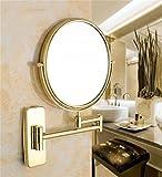 Sided Wand Klappspiegel Schönheit Spiegel Make-up Spiegel Badezimmer Spiegel Badezimmer Der Spiegel vergrößern Teleskop Spiegel ( farbe : B )