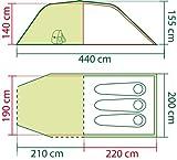 Coleman Zelt Coastline 3 Plus, 3 Mann Zelt, 3 Personen Tunnelzelt, Campingzelt, leichtes Trekkingzelt mit Vorzelt, wasserdicht WS 3.000mm - 3