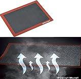 silikomart 70.109.99.0065 Tapis Air Mat Silicone, Rouge Brique/Noir, 6 x 7,3 x 42,5 cm