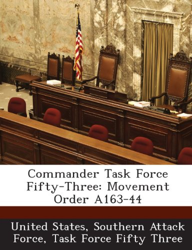 Commander Task Force Fifty-Three: Movement Order A163-44
