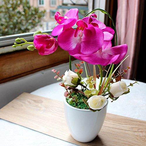 JHDH2-verde si sente la falena orchid ad alta temperatura del vaso di ceramica artistica incontenibile modello floreale in camera moderna è il nuovo carattere cinese floral B