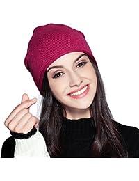 FLY HAWK Cappello Beanie di Lana da Donna Invernali - Berretto Cuffia  Elastici Donna Ragazza Elegante e9d05bff9210