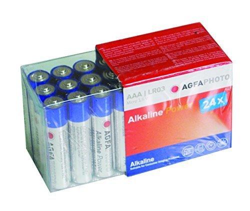 Lot de 24 piles Alcaline Agfa photo AAA/R3